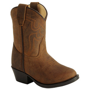 stretch leather cowboy boots