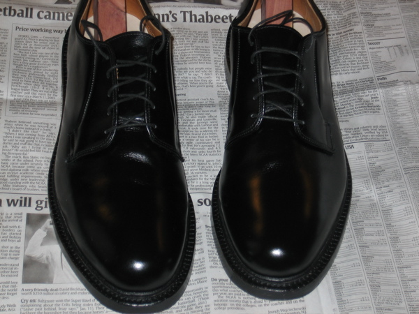Polished shoes