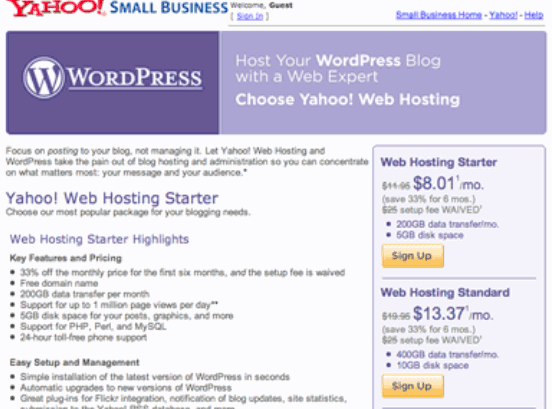 Upgrade Wordpress on Yahoo Hosting