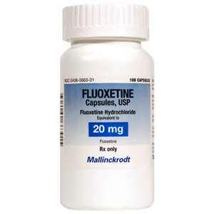Bottle of Fluoxetine