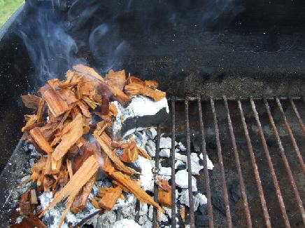 Smoker with Wood Chips