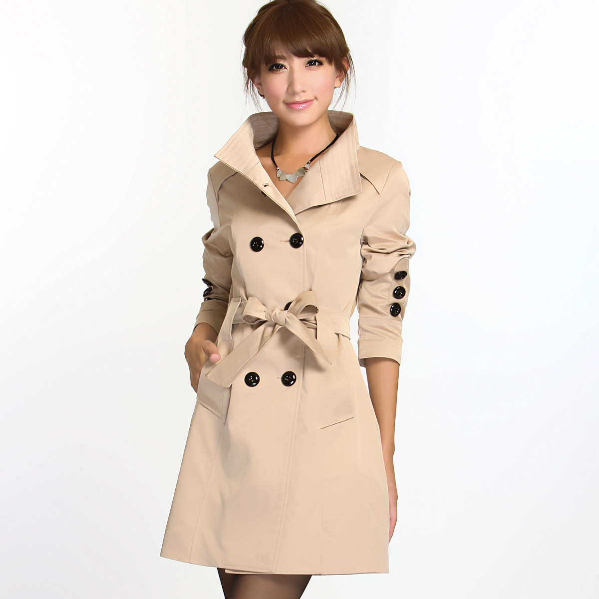 A girl in coat