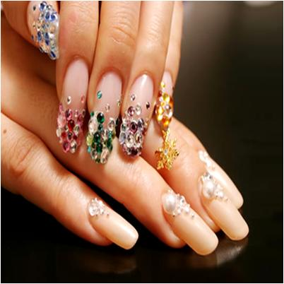 Jeweled Nail Art for Summer Manicure