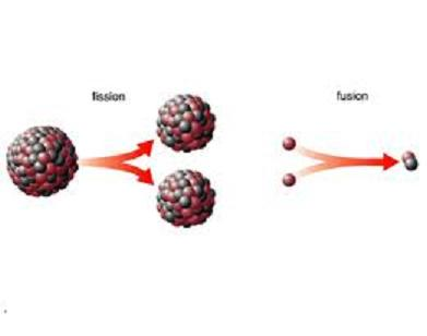 nuclear fusion and fission