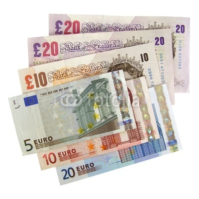 Euro and Pound Currency