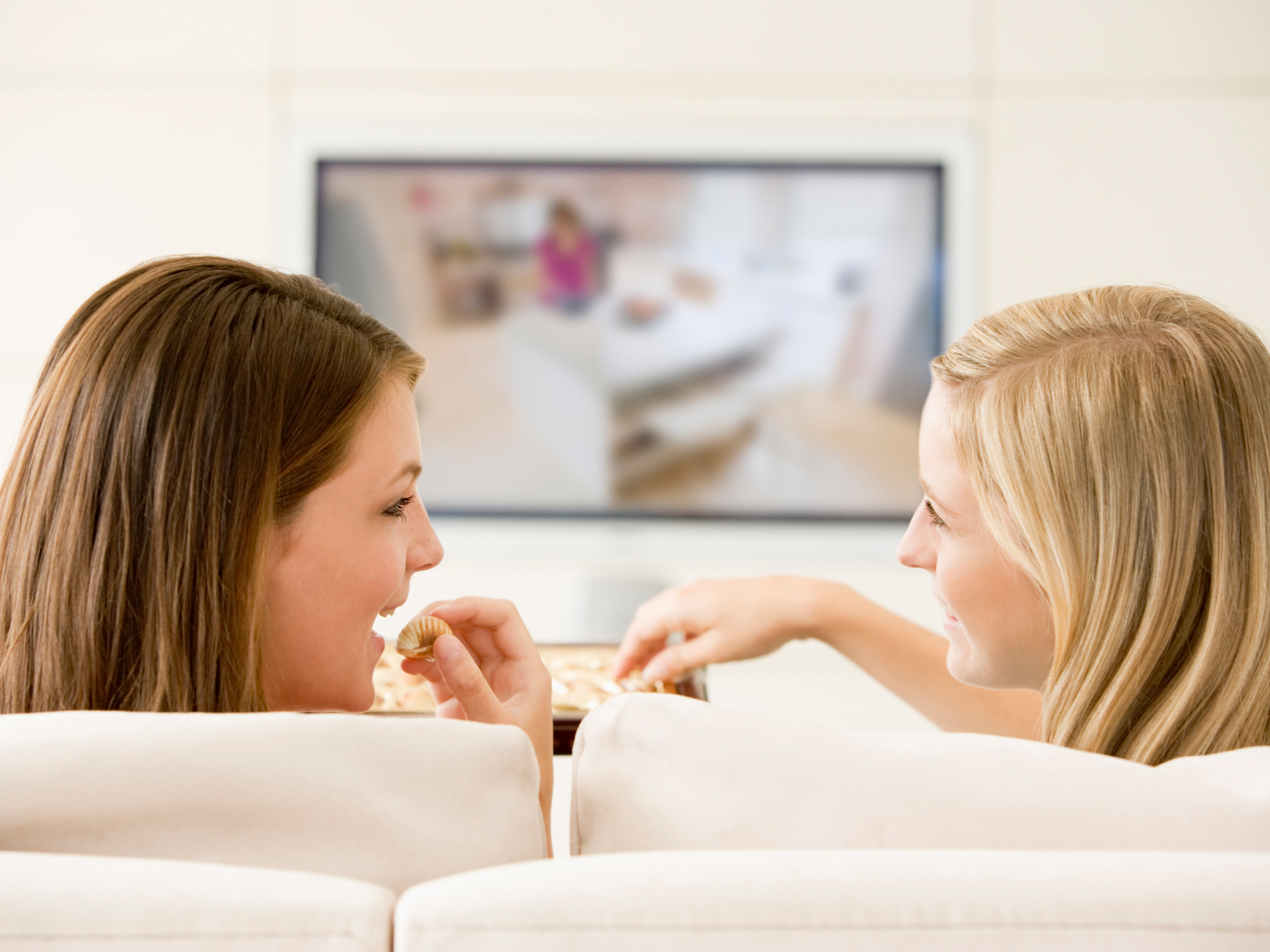 Ladies watching TV