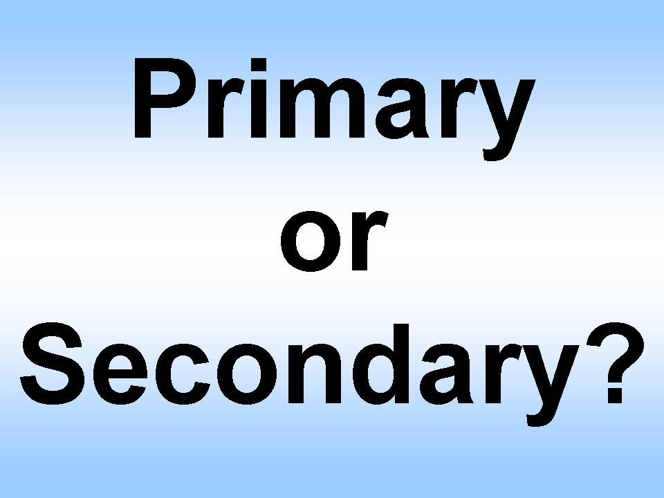 Difference Between Secondary and Primary Sources
