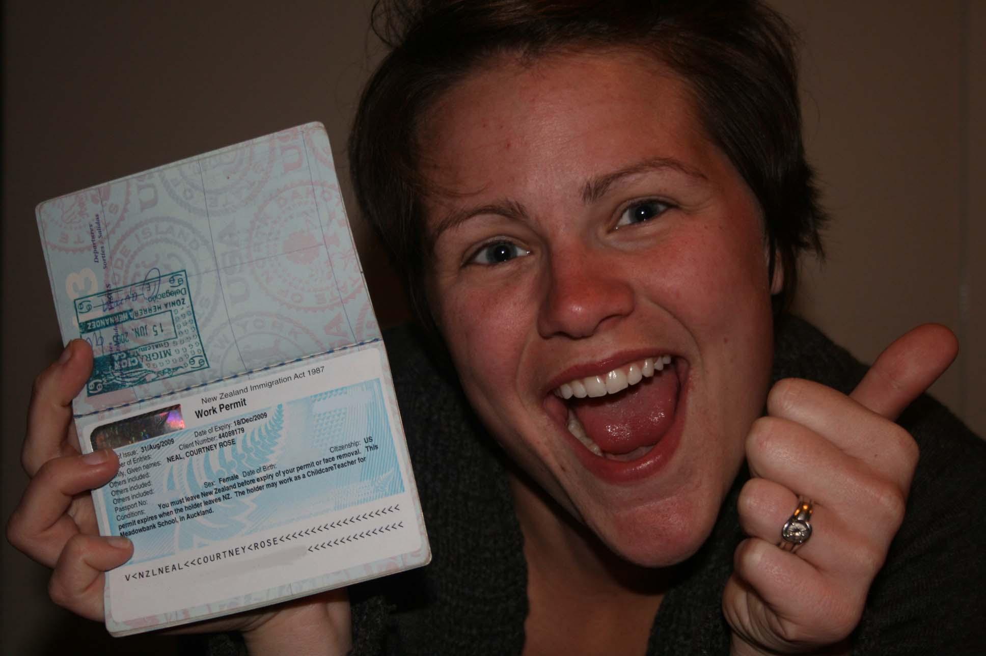 Happy Visa Holder