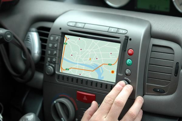 GPS in car