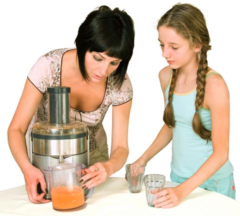 Preparing juice