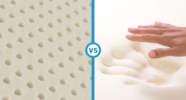 Difference between Latex and Memory Foam