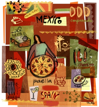 similarities and differences between spanish and mexican cuisine
