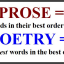 Know the Difference between Poetry and Prose