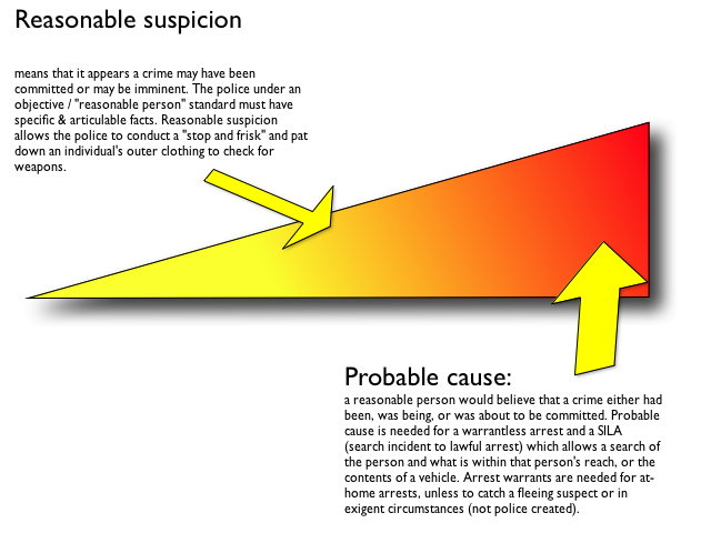 What is reasonable suspicion? How can you tell someone is an illegal or not?