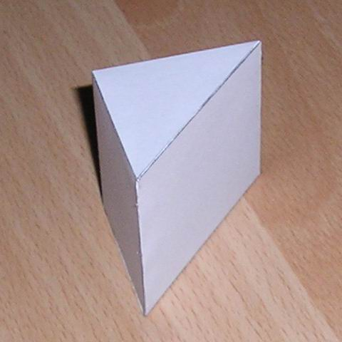 Triangular Prism and Triangular Pyramid Tetrahedron