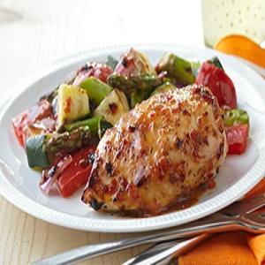 Grilled Chicken with Summer Vegetables