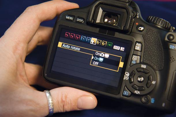 Auto-Rotate Images in a Digital Camera
