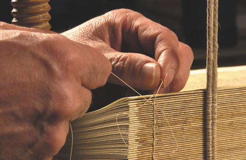 Binding a Book with Thread