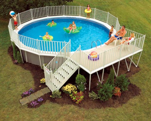 How to build a deck around an above ground pool for How to build a deck around a pool