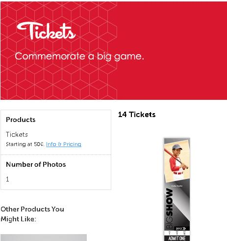 Create Commemorative Photo Sports Tickets Using Mpix