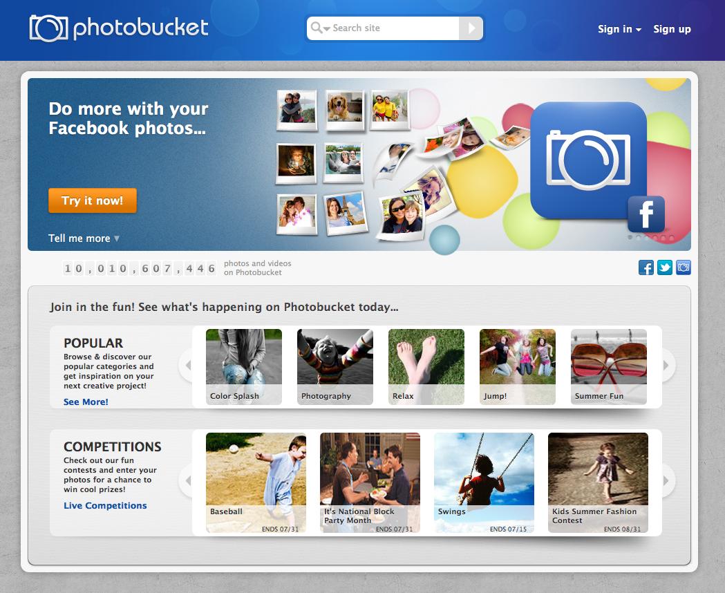 Create a Sub Album in Photobucket