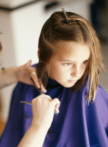 How to Cut Your Young Daughter's Hair