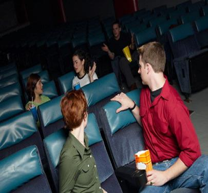 How to Handle Talkers at a Movie