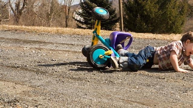 Child falls