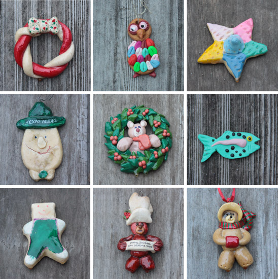Bread Dough Christmas Ornaments