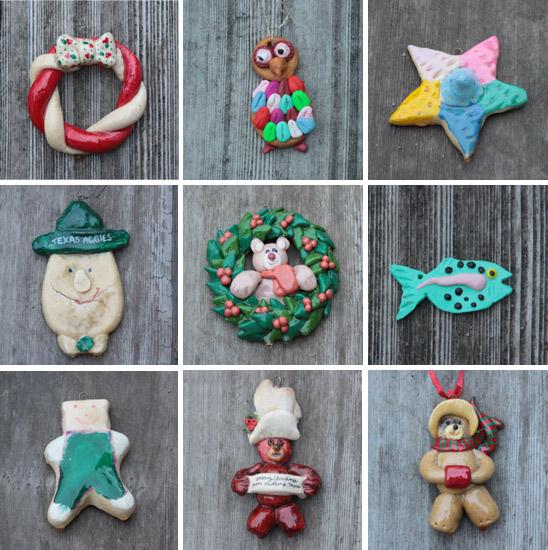 Bread Dough Christmas Ornaments