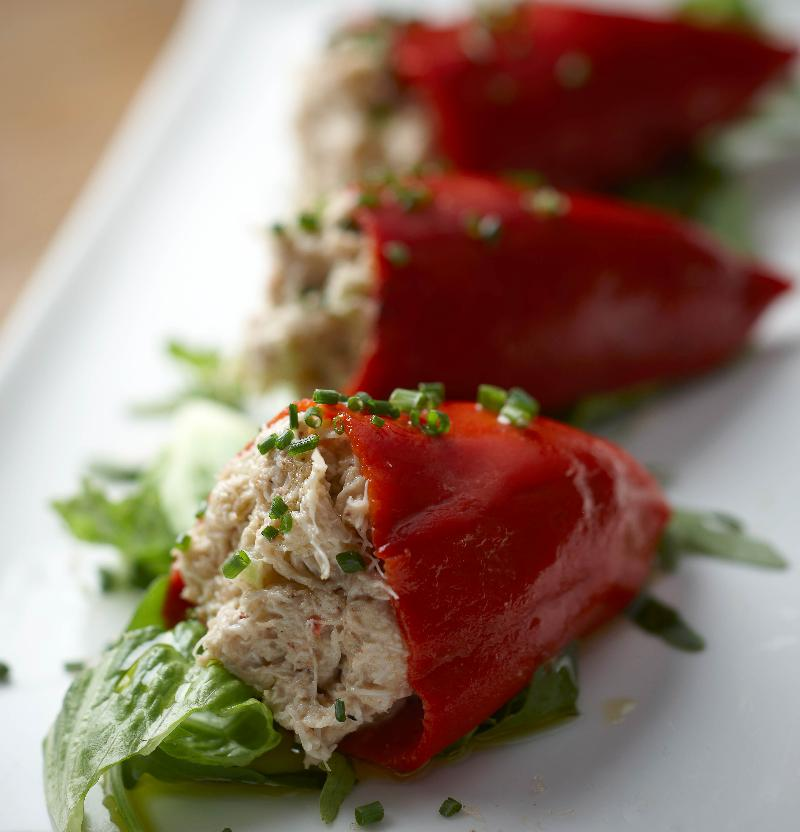 Crab-Stuffed Piquillos