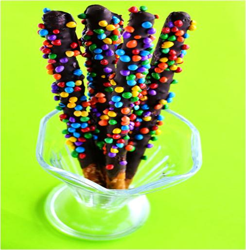 Delicious Chocolate Pretzels Rods
