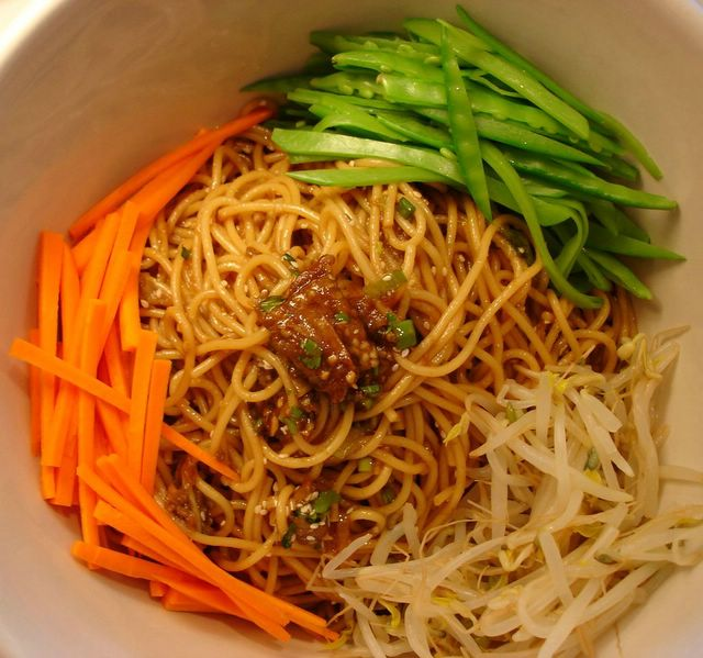 Eggplant Noodle Salad