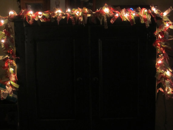 Lighted Fabric Swags