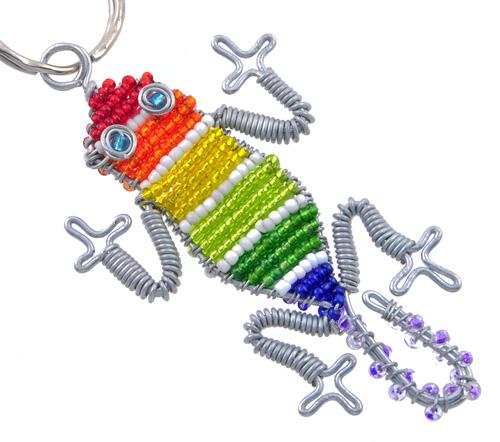 Bead Lizard Key Chain