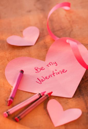 Valentine With a Ribbon Border
