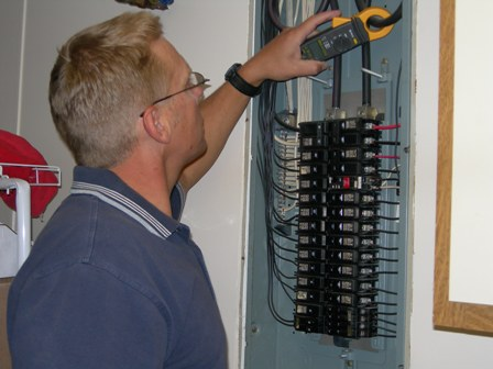 Working with an electrical panel