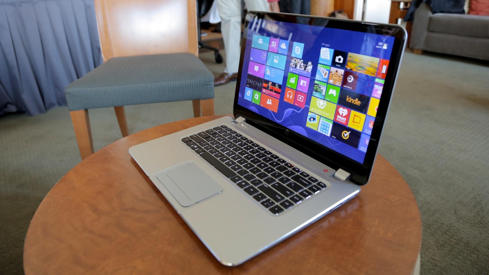 A touchscreen laptop