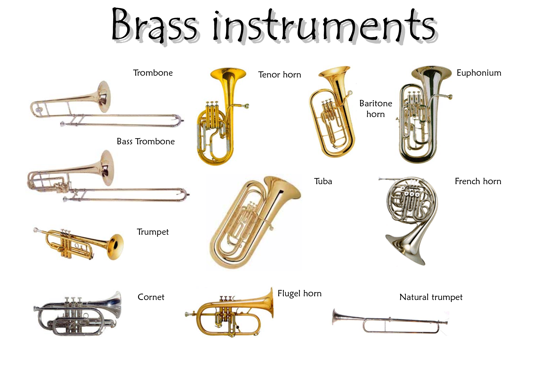 Different types of Brass Instruments