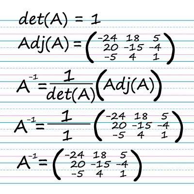 Solution of inverse of a matrix