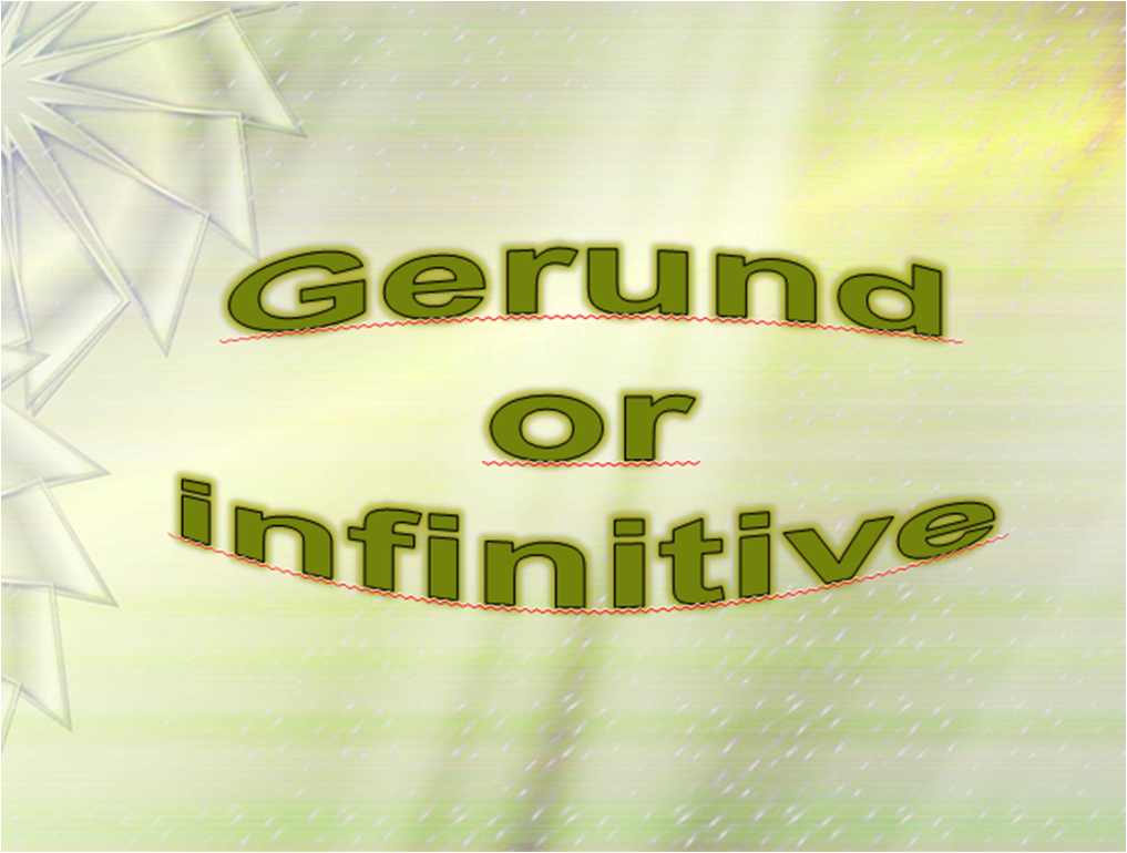 Difference between Gerund and Infinitive