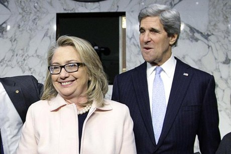 John Kerry and Hillary Clinton