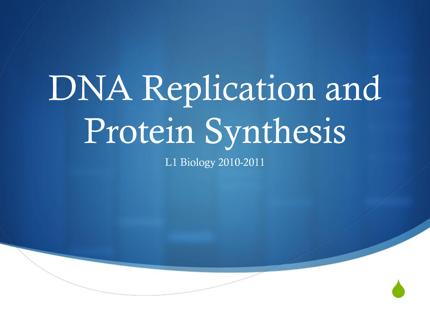 Protein Synthesis and DNA Replication