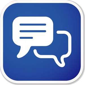 Chat room logo