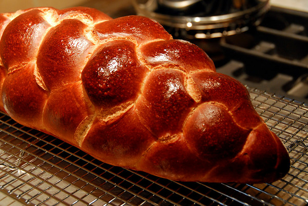 3 Strand Challah Bread Loaf