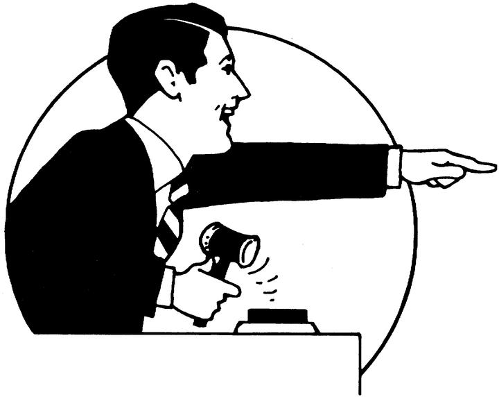 Auctioneer clipart