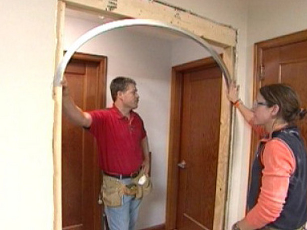 Couple Building Arches in Doorways