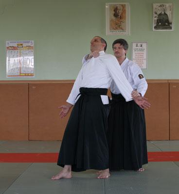 Ushiro Kubishimei in Aikido