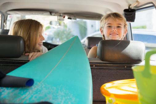 Children on a Road Trip