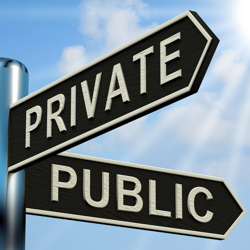 Public & Private sign board